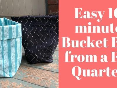 Easy Fat Quarter Bucket Bag