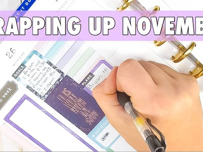 END OF NOVEMBER PLAN WITH ME | CLASSIC HAPPY PLANNER PWM NOVEMBER 26 - DECEMBER 2