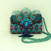 Exitoc Turquoise Peacock Clutch