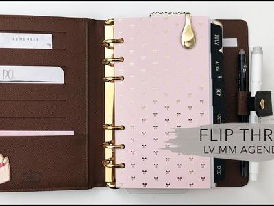Flip Thru of My Louis Vuitton MM Personal Size Planner Setup