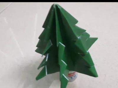 Folding small origami christmas tree in Noel season Gấp cây thông Noel