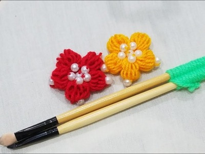 Hand Embroidery:Amazing Simple Trick For Making stump Flower  (PART 3)