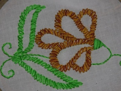 Hand Simple Flower Hand Embroidery For Dupatta Unique Design