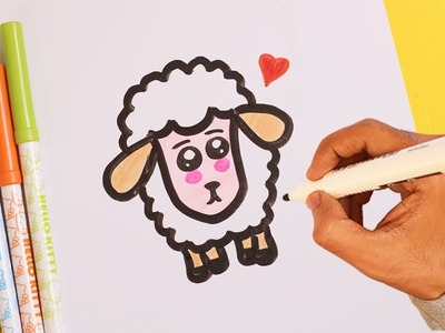 How To Draw A Cute Kawaii SHEEP Easy