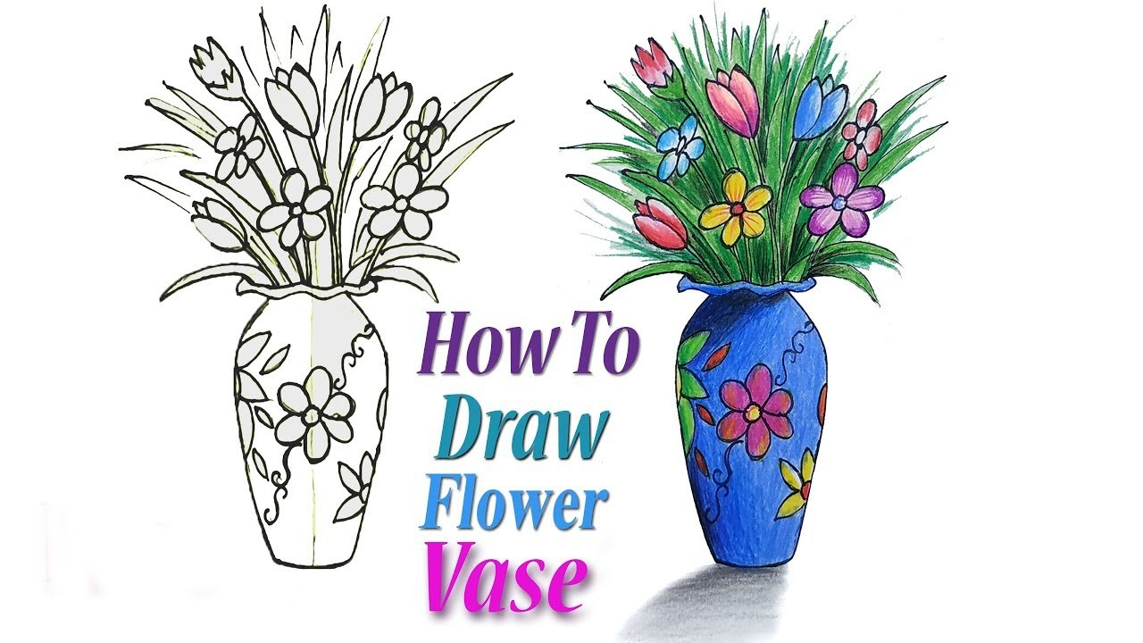 Pictures of flower vase to draw