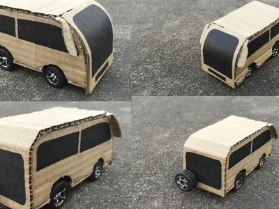 How to make a Mini Toy Bus Easy at Home