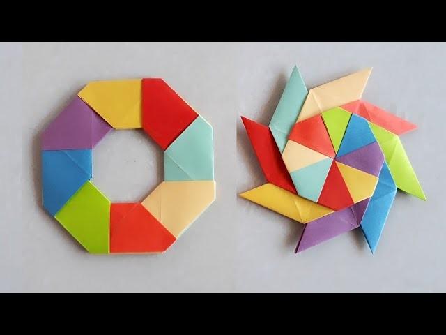 How to make a paper multi colour star?||कागज का रंग-बिरंगे  तारा कैसे बनायें ?||14||N