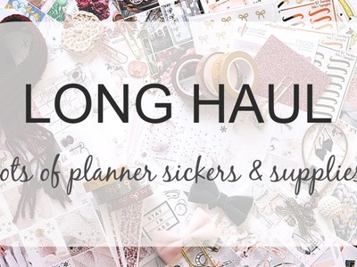 LONG HAUL | Planner Stickers and Supplies from Lots of Shops!