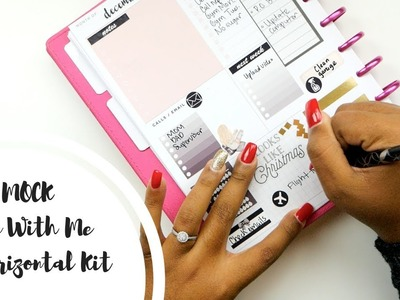 MOCK Plan With Me! Happy Planner Dashboard.Supermom Layout | EC Horizontal Kit!