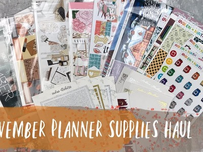 November planner supplies haul | ft. scribble prints co, crafty banana, and more!