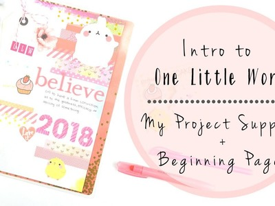 One Little Word in a Happy Planner | Intro + Supply Haul + First Pages