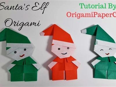Origami Santa's Elf - Origami For Christmas