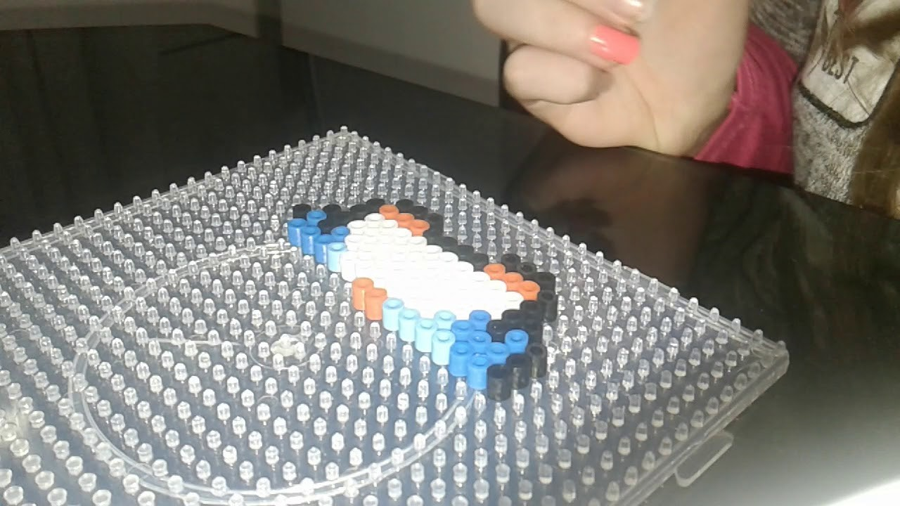 Pinguino con hama beads