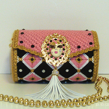 Pink and Gold Round Purse