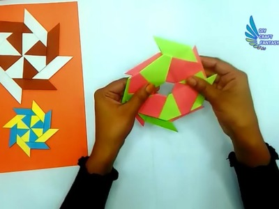 How To Make Paper Transforming Ninja Star, Easy Origami Lucky Star ... | 300x400