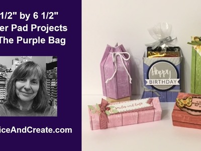 """4 1.2"""" by 6 1.2"""" Paper Pad Projects #4 The Purple Bag"""