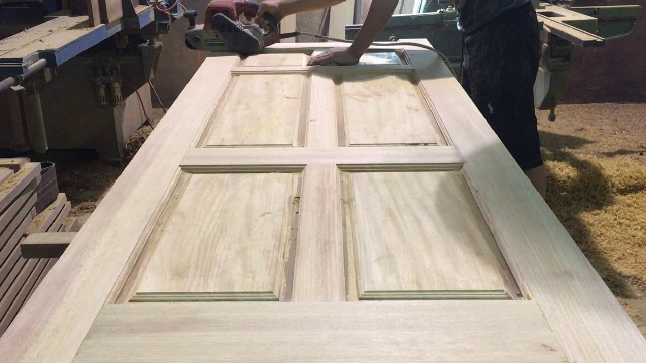 Amazing Woodworking Skill Of Carpenter. Modern Wooden Door Build For Home 2018