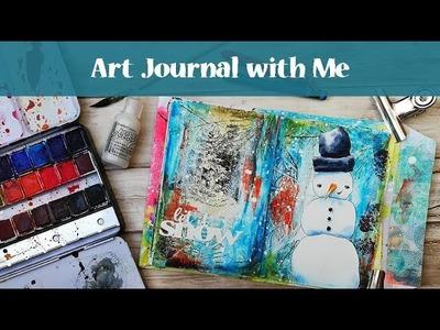 Art Journal with Me & Gelatos and Distress Crayons