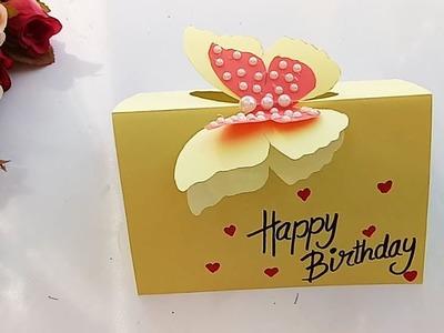 Beautiful Handmade Butterfly Birthday card.Birthday card idea.