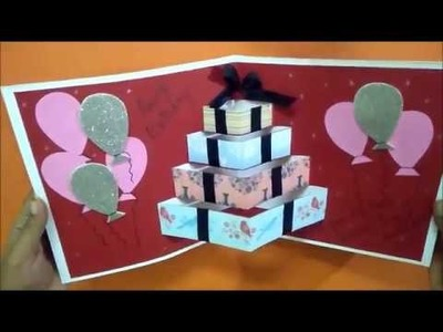 Beautiful POP UP CARD For Birthday | Complete tutorial
