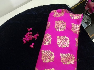 Beautiful Sleeves Design for Velvet Kurti in Easy Way || Sleeves Design with Potli Buttons
