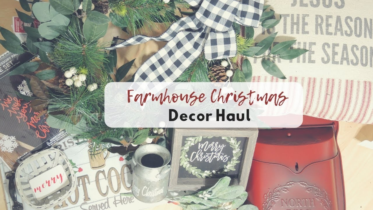 diy home decor christmas christmas home decor haul farmhouse christmas walmart 10731