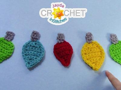 Christmas Lights Applique - Crochet Quick Fix