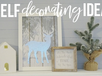 Christmas Shelf Decorating Ideas!   Decorate With Me!!!