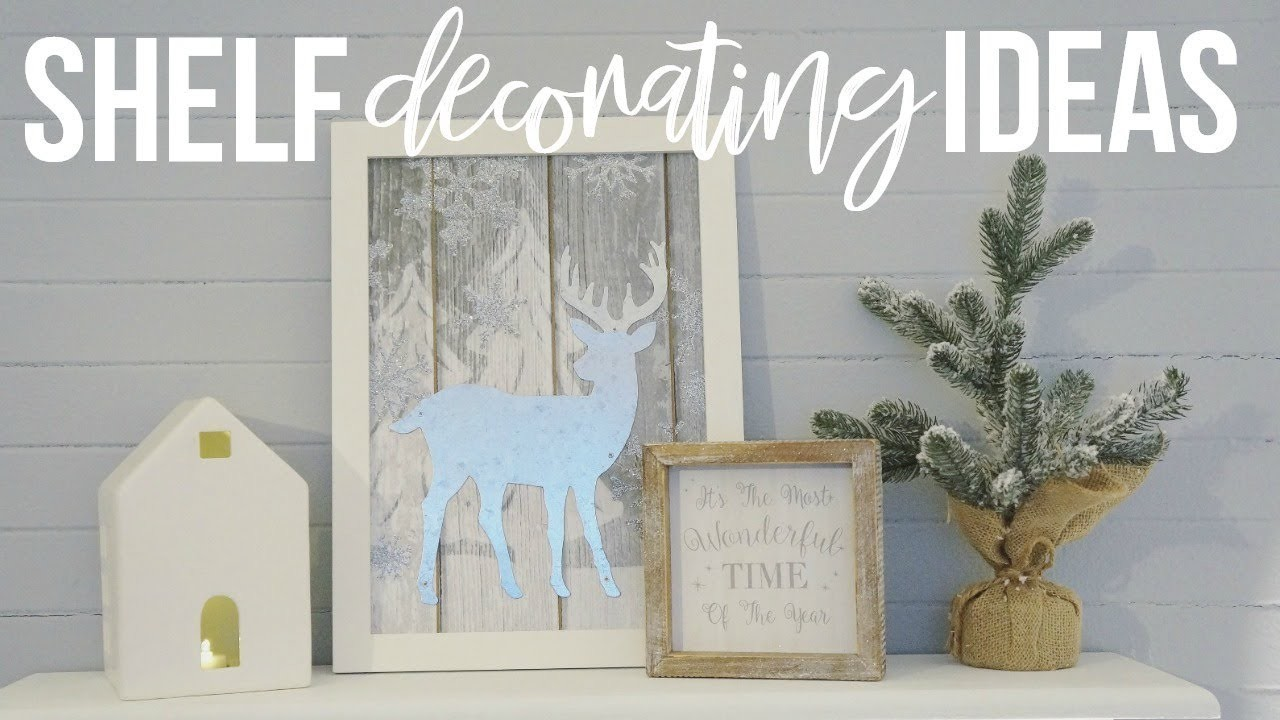 Christmas Shelf Decorating Ideas! | Decorate With Me!!!