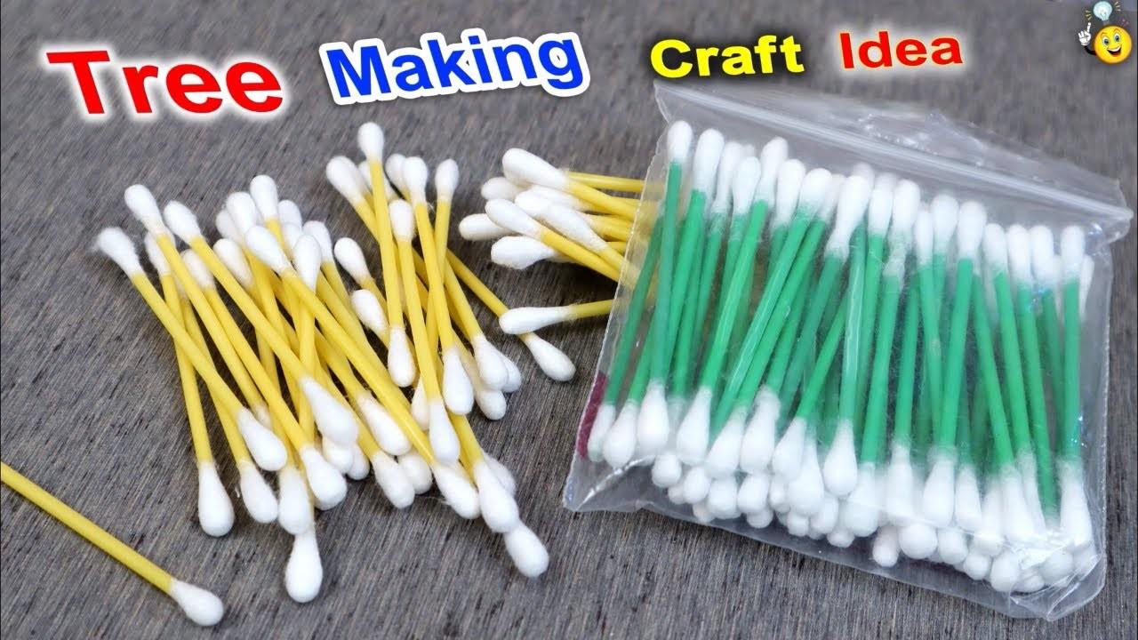 Cotton Buds Reuse Craft Idea    DIY Home Decoration Ideas