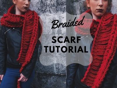 Crochet Braided Scarf Tutorial