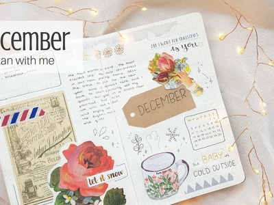 December bullet journal plan with me + November flipthrough