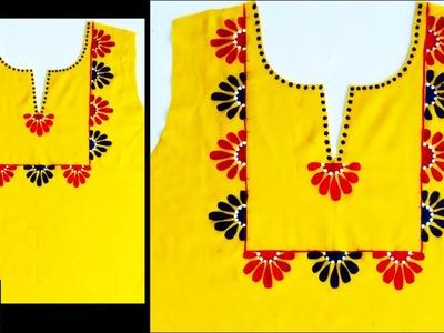 Designer Neckline for Kurti.Kurthi.Blouse | Creative Idea to Create Stylish Neckline