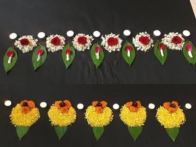 DIY Border Flower Rangoli for Diwali