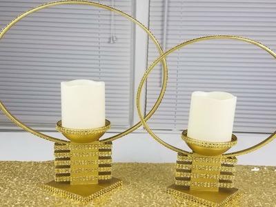 DIY Centerpiece ideas : DIY candle holders