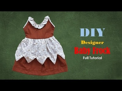 Diy Designer Baby Frock For 1 year baby girl  Cutting And Stitching Full Tutorial