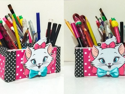 DIY Desk Organizer | DIY Makeup Organizer | Cajas organizadoras de Marie Cat|Aristocats Marie Craft