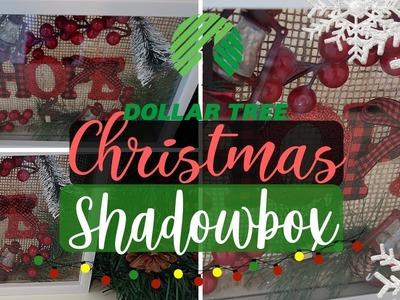 DIY Dollar Tree Christmas Shadow Box | DIY Shadowbox | Rustic Christmas Decor