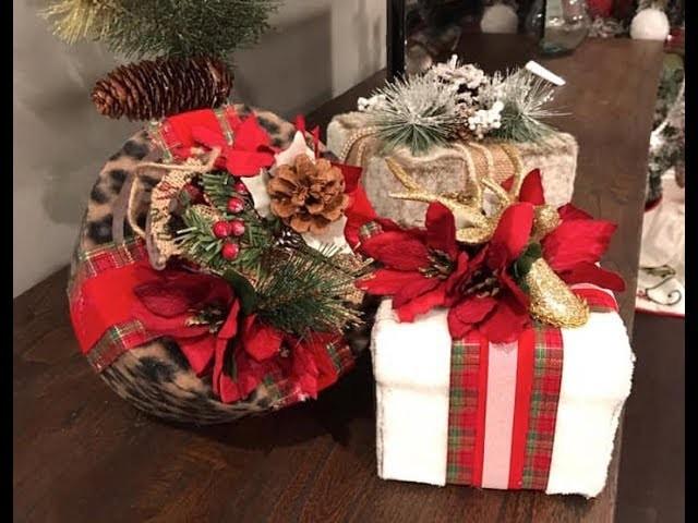 DIY Dollar Tree Fur Holiday Gift Box Decor