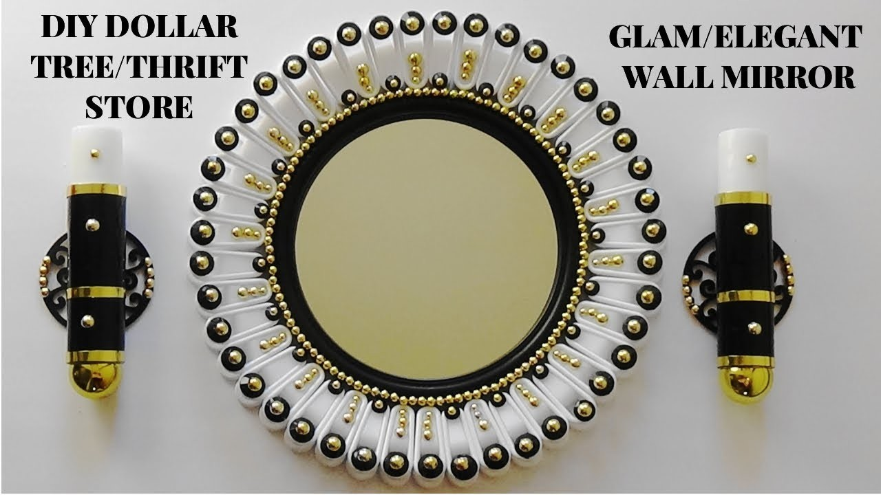 diy home decor crafts diy glam dollar tree wall mirror home decor 10732