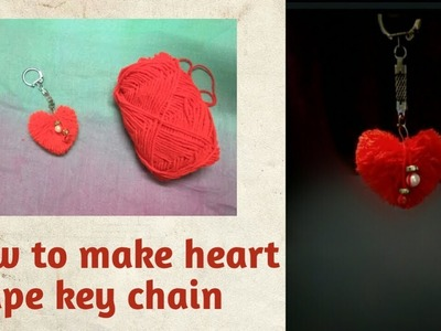 DIY. How to make heart key chain used with woolen thread