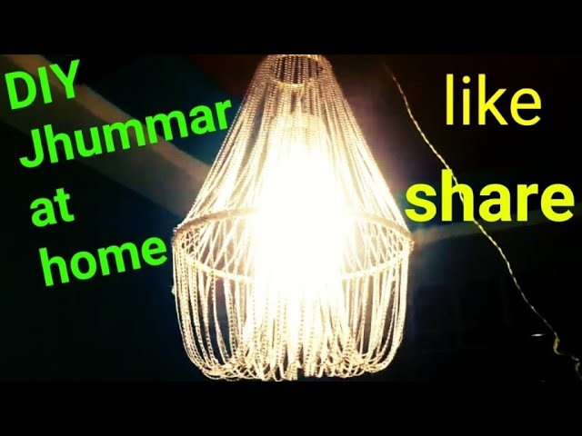 DIY jhumar making#simple diy of jhumar#jhumar making at home#home decor#budjet friendly home decor