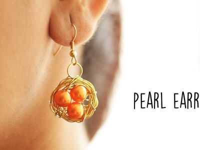 DIY Pearl Earrings | Handmade Jewellery | Jewellery Making