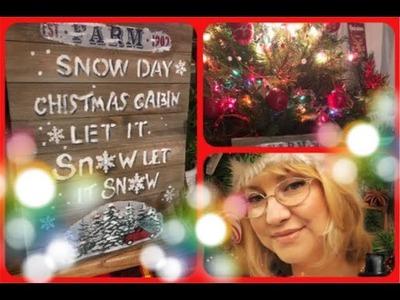 """~ DIY~ """"SNOW DAY"""" CHRISTMAS SIGN 2018~"""