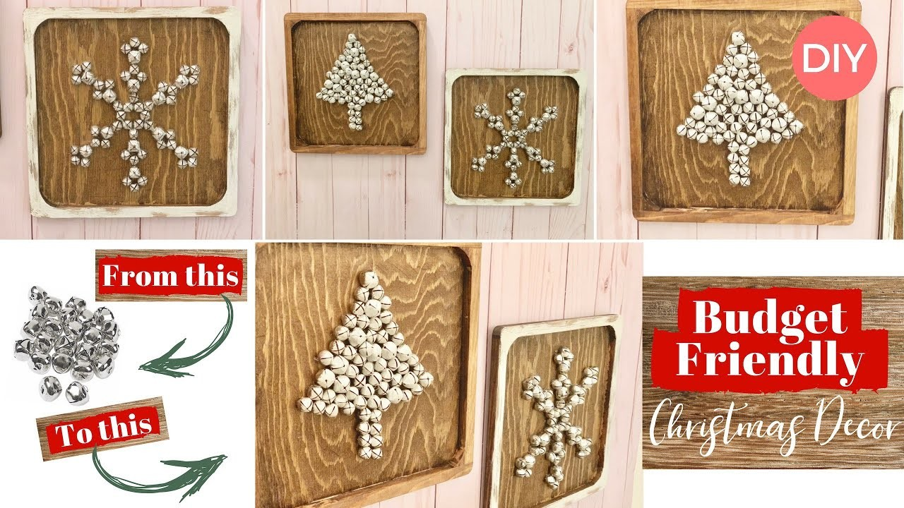 dollar tree arts and crafts dollar tree bells wall wood plaque christmas decor 12130