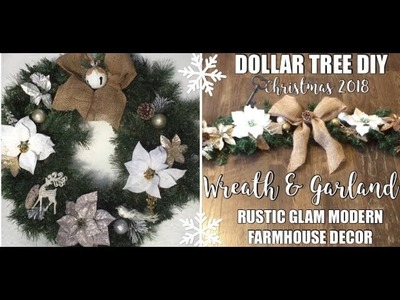 Christmas Dollar Tree Diy Christmas Garland Wreaths