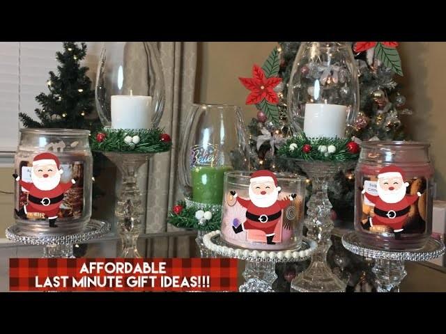Dollar Tree DIY || Glam Candle Holders || Last Minute Gift Ideas