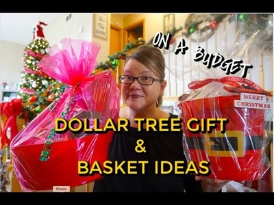 DOLLAR TREE GIFT BASKET & GIFTS IDEAS | CHRISTMAS ON A BUDGET!