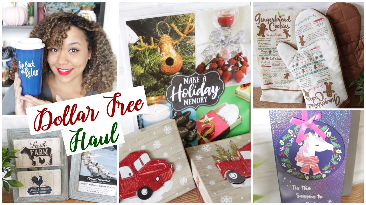 Dollar Tree Haul Christmas Red Truck and Farmhouse