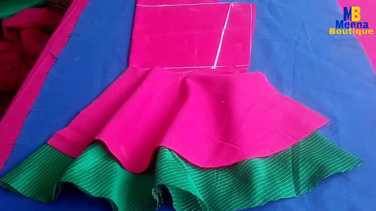 6db92d2e7d4e7 DOUBLE LAYER BELL SLEEVES DESIGNS CUTTING AND STITCHING